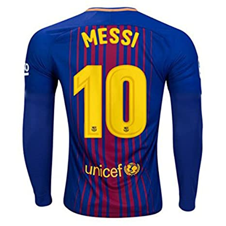 2017 2018 FC Barcelona LA página de inicio de fútbol Fútbol camiseta de manga larga 10