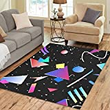 Gogogosky Custom Memphis Geometric Area Rug Floor Rug Room Carpet 7'x5'