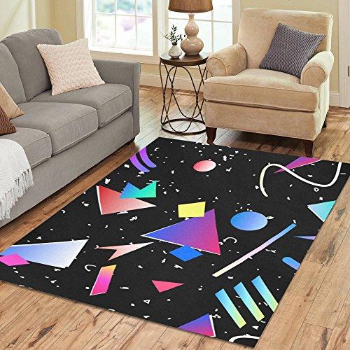Gogogosky Custom Memphis Geometric Area Rug Floor Rug Room Carpet 7'x5' by InterestPrint