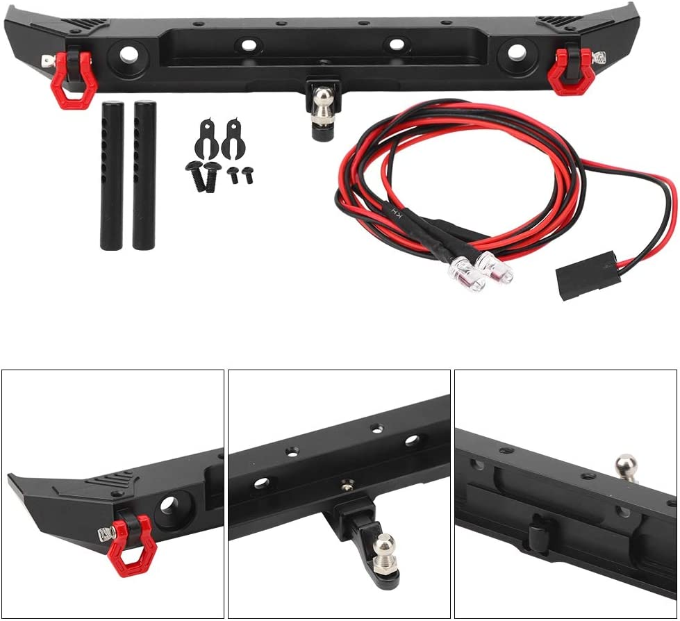 RC Car Model Rear Bumper RC Car Metal Rear Bumper with D-Rings for Axial SCX10 III AXI03007 1//10 RC Car Model