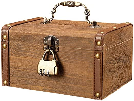 Huchas Ahorro Dinero Caja Retro Piggy Banco de madera Manual ...