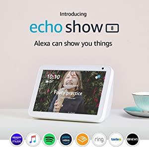 "Echo Show 8 - HD 8"" smart display with Alexa - Sandstone Fabric"