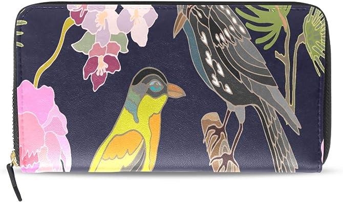 Kawaii Jardín Japonés Flores Y Pájaros Pasaporte Largo Bolsos Embrague Cremallera Monedero Bolso Bolso Organizador Dinero Titular la Tarjeta Crédito Para Dama Mujer Chica Hombre Regalo Viaje: Amazon.es: Zapatos y complementos