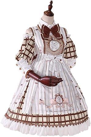 WJX Vestido de niña, niños Lolita OP Desfile Plisado Vestidos Camisa, Vestido de Baile de graduación, Fiesta Boda Dama de Honor Vestidos de Princesa Traje, día de los niños Pascua, Verano,L: Amazon.es: