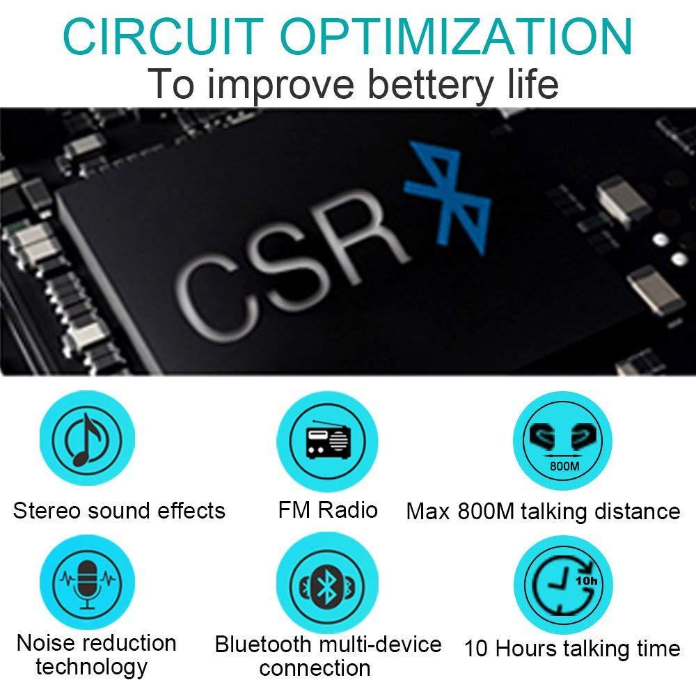 FreedConn Intercom Moto Casque la Communication Syst/èmes Bluetooth Interphone Headset 800M pour Moto Ski ATV 1 pi/èces Difficile c/âble