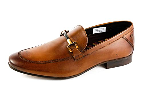 Base London BL6-037 - Mocasines de Piel Lisa para Hombre Marrón marrón, Color Marrón, Talla 42 EU: Amazon.es: Zapatos y complementos