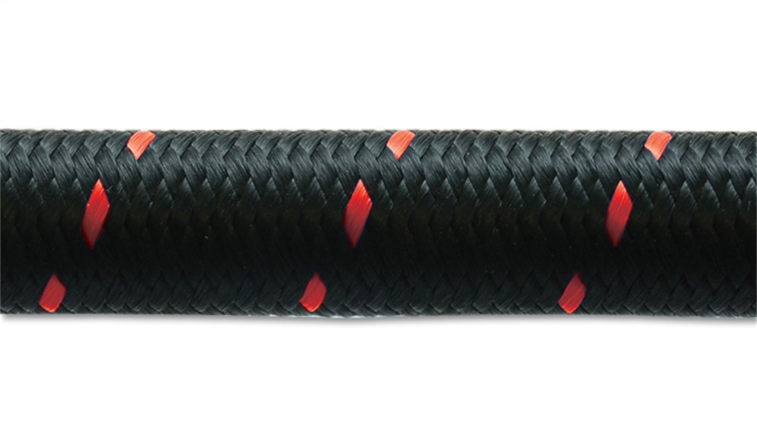 Vibrant Performance 11982R Nylon Braided Flex Hose (20ft Roll of Black Red ; AN Size: -12; Hose ID: 0.68'')