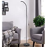 ampm LED Floor Lamp, 3 Light Colour Multi Brightness With Adjustable Gooseneck Dimmable Standing Light, USB Operated…