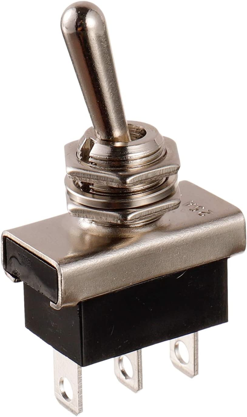 paquete de 2 piezas -102 Interruptor de palanca SPDT ON-ON 3 Terminal pin 12 VDC 25 A con tapa impermeable BOJACK KN3 D
