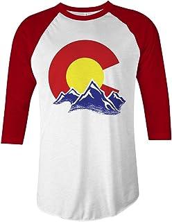 5b2343c8184f Amazon.com: Distressed Heart Colorado Flag Design On Bella + Canvas ...
