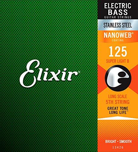 (Elixir 13426 .125 Nanoweb Stainless Steel Single Bass String )