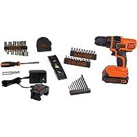 BLACK+DECKER 20V MAX taladro y kit de herramientas para el hogar, 44 piezas (LDX50PK)