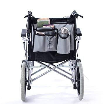 QEES GJB504 - Bolsa para silla de ruedas con múltiples ...