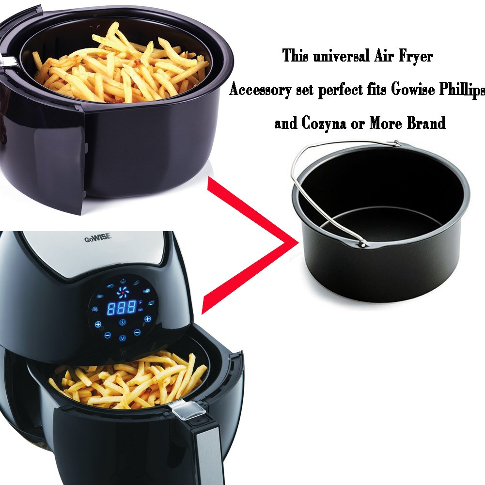 Air Fryer Accessories for Gowise Phillips and Cozyna Etc,Air Fryer Accessories Kit of 5 Fit all 3.7QT-5.3QT-5.8QT by FourWinner (Image #7)