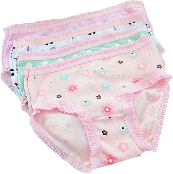 0f50d6280e14 Girl Knickers Cotton Briefs Cartoon Cute Underwear 12 Pack Back to School  Panties for 1-12 Years Old Little Princess. Back. Double-tap to zoom