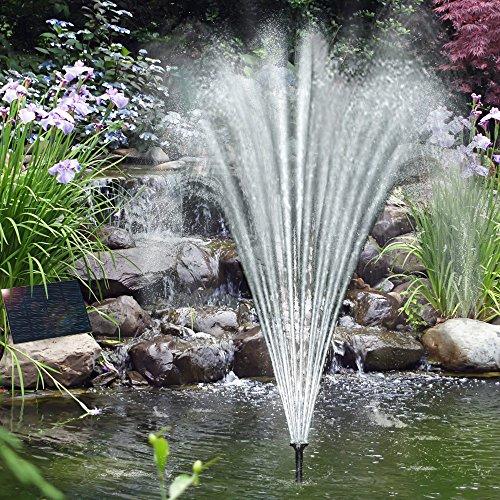 Solarpumpe Teichpumpe Brunnen Fontäne Gartenteich Pumpe Springbrunnen Teich Neu
