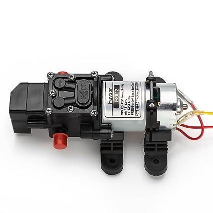 Amazon updatefavson diaphragm pump dc 12v fresh water pump updatefavson diaphragm pump dc 12v fresh water pump 40 lmin 100 ccuart Choice Image