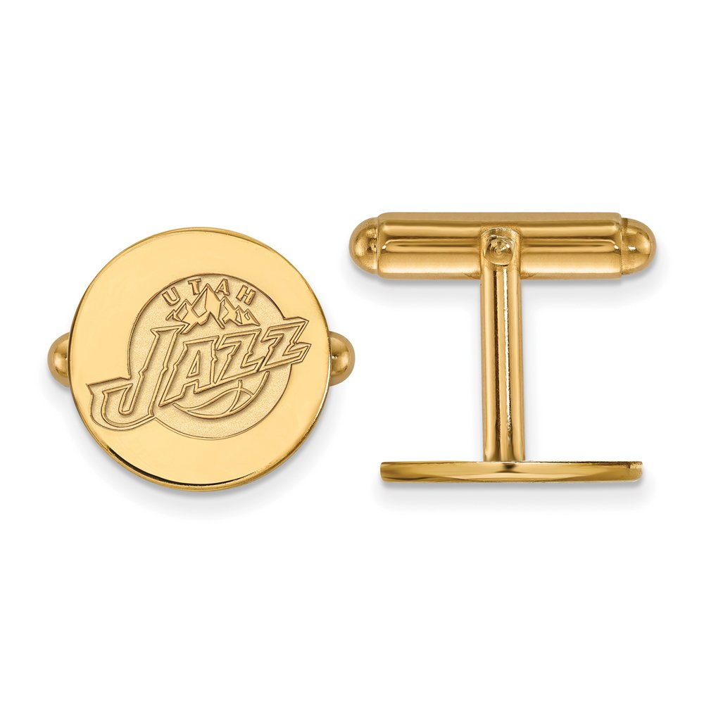 NBA Utah Jazz Cuff Links in 14K Yellow Gold