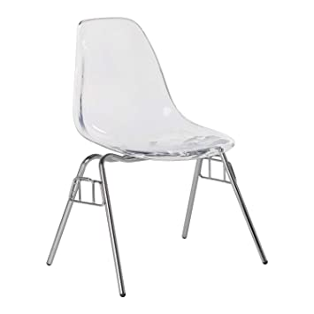 SKLUM Silla IMS School Transparente [New Supreme] Transparente - Cromado(Elige Color)