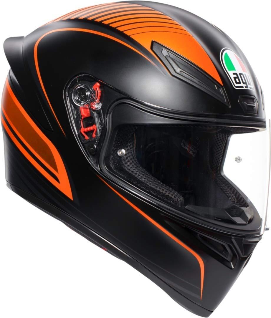 AGV K1 Warm Up Naranja Casco De Moto De Cara Completa Tamano S