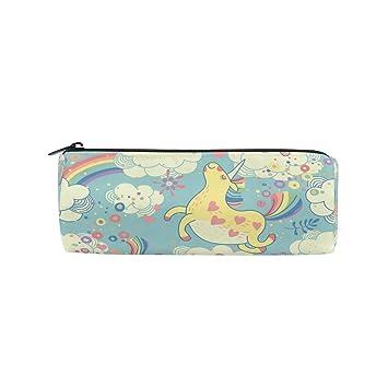 ISAOA - Estuche para lápices de unicornios de arcoíris y ...