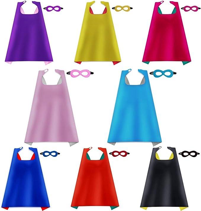 iROLEWIN Capas de superhéroe para niños con máscaras, Disfraces de ...