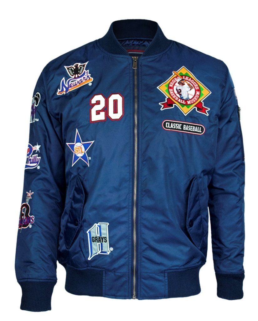 NLBM Mens Bomber Jacket 3XL Navy Blue by Big Boy Headgear