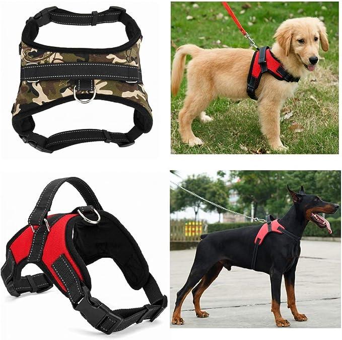 ACHONGW Nylon Heavy Duty Dog Arnés para Mascotas Collar Ajustable ...
