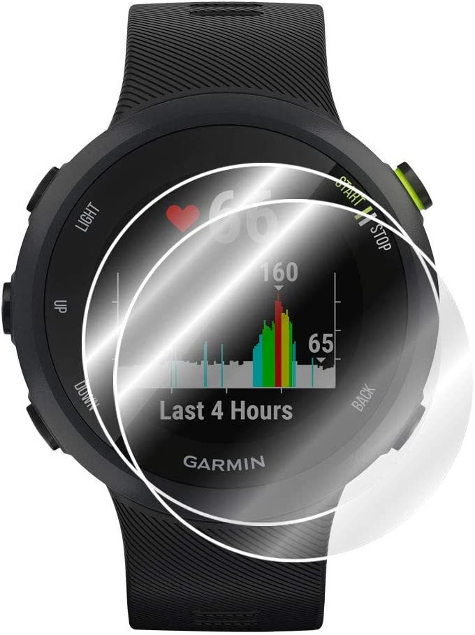 39MM 2 Units Smooth//Self-Healing//Bubble -Free by IPG for Garmin Forerunner 45S Smartwatch Screen Protector Invisible Ultra HD Clear Film Anti Scratch Skin Guard