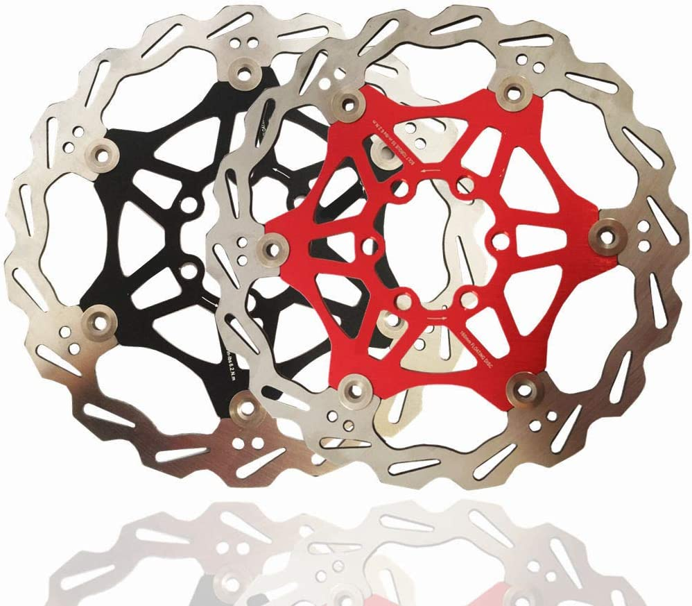 Hydraulic Disc Brakes Calipers Front Rear lever Rotor 160//180mm Red MTB FR bike
