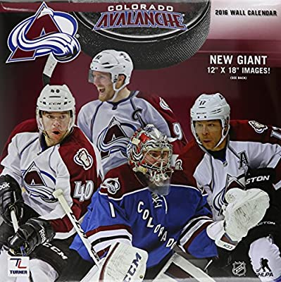 "Turner Colorado Avalanche 2016 Team Wall Calendar, September 2015 - December 2016, 12 x 12"" (8011937)"