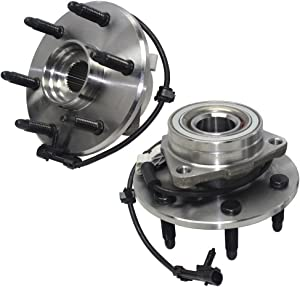 Detroit Axle - 4WD 515036 Front Wheel Bearing and Hub Assembly 6LUG 2PC Set for 4WD 4x4 Cadillac Escalade ESV EXT Chevy Avalanche Express 1500 Silverado Suburban Tahoe GMC Sierra Yukon Savana