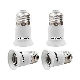 DiCUNO E27 Adaptador de la base de la lámpara, E26 / E27 Portalámparas de la bombilla Convertidor ...