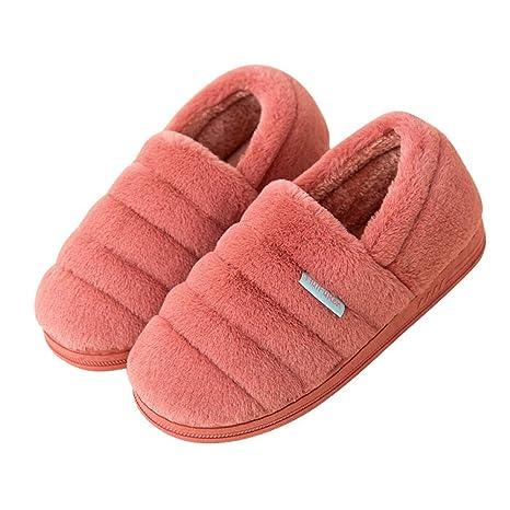 Algodón Zapatilla Zapatillas Interior Zapatillas De Casa Pantuflas Antideslizantes Slippers Suave- Zapatillas De Algodón De