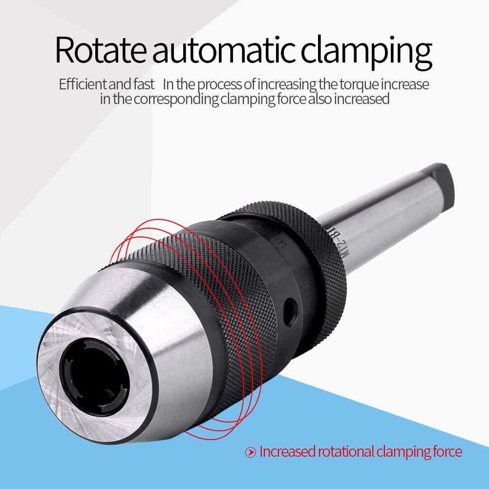 Mandrin de tour sans cl/é en acier Nimoa 1//2/à serrage automatique et mandrin MT2-B16 Mandrin de per/çage 1-13 mm