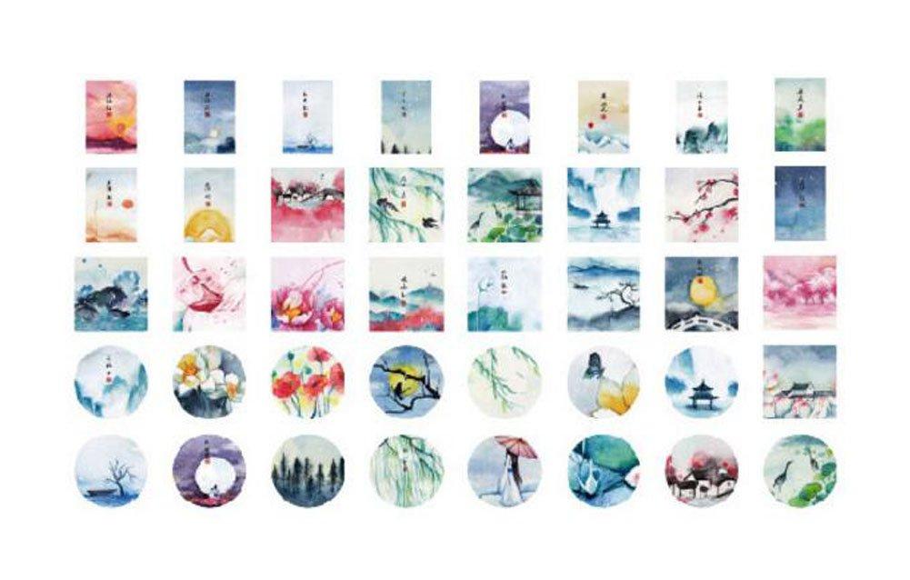 Natural Scenery Pattern Scrapbook Paper Stickers