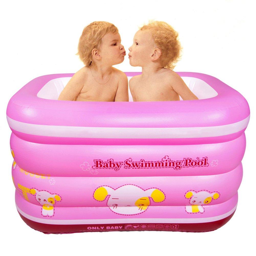 Großes Kinderbecken/Indoor Haushalt Baby Schwimmbad/Isolierung verdicken Babyschale Bad-A