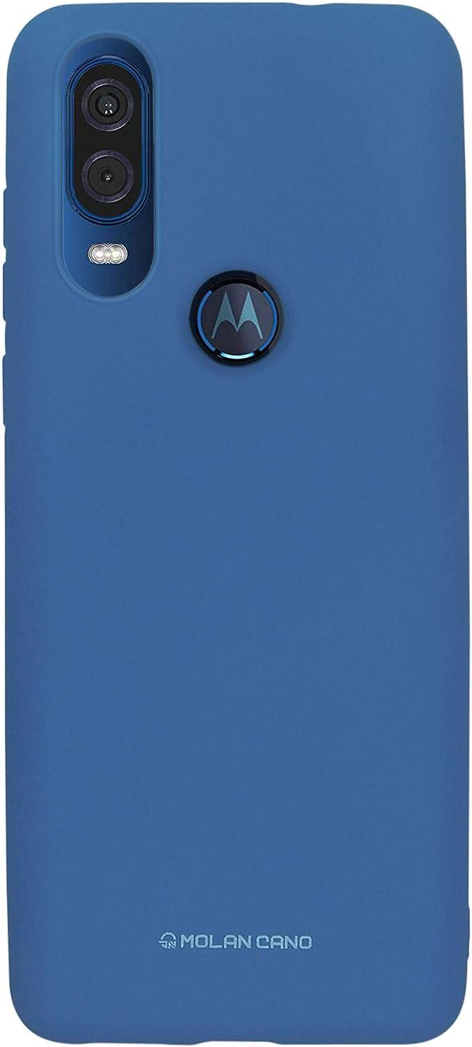 Molan cano Funda Case de Silicon Suave Protector Acabado Mate para Moto One visión   Action (Azul): Amazon.com.mx: Electrónicos