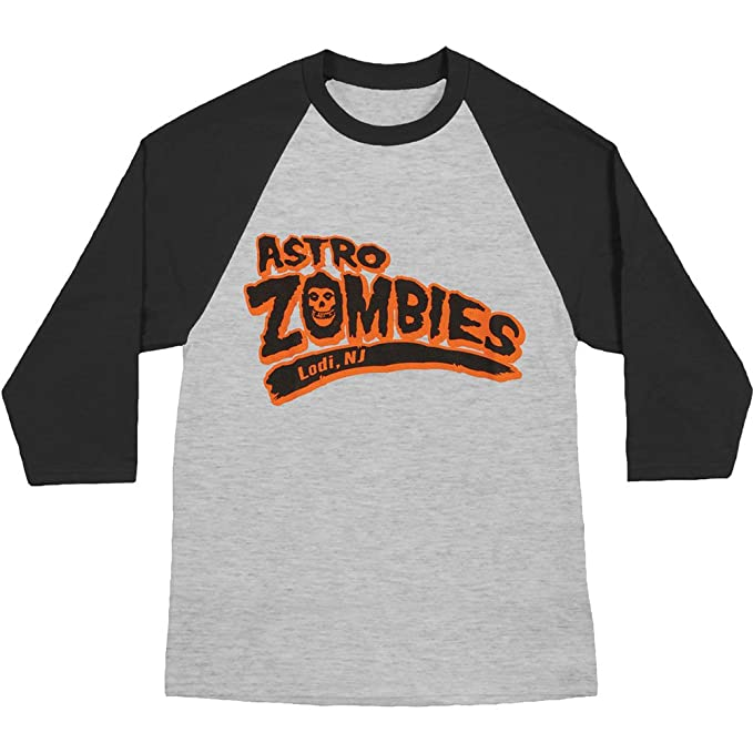 Unknown - Camiseta - Hombre - The Misfits - Uomo Astro Zombies Baseball (Camiseta) Heather: Amazon.es: Ropa y accesorios