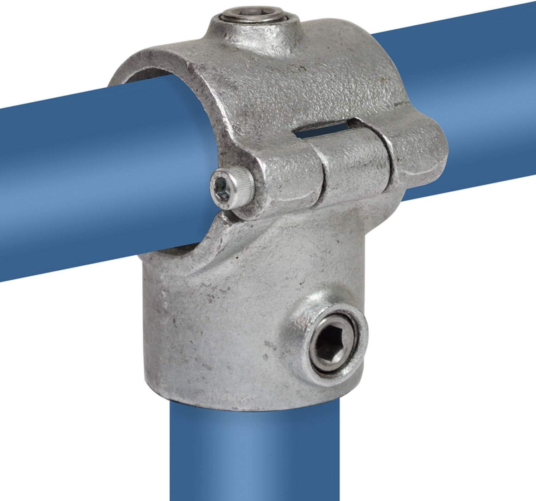 lang Typ 4E Rohrverbinder Temperguss galvanisiert 90-Grad Klemp Schrauben T-Verbinder//T-St/ück 48,3 mm // 1 /½ inkl feuerverzinkt