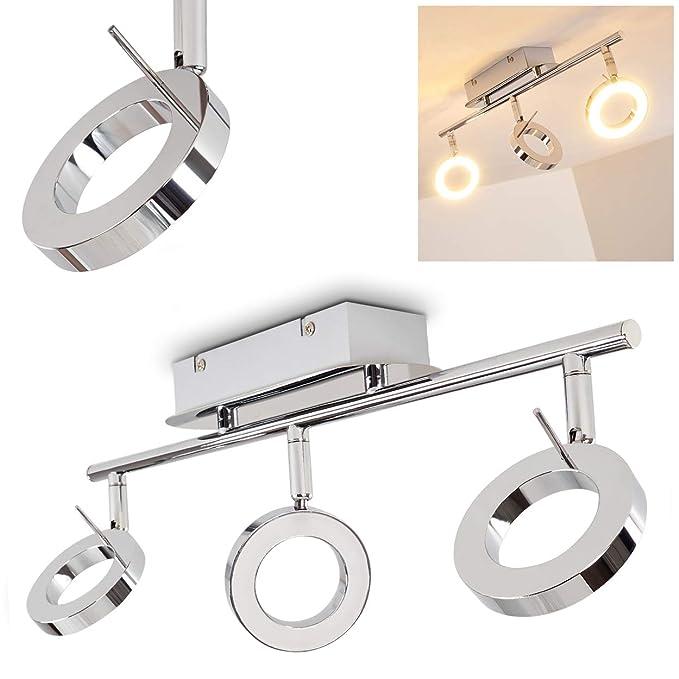 LED Decken Lampe Design Beleuchtung 5 Leuchtringe Strahler Leuchte silber Kreise
