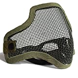 hongbest Tactical Airsoft Mask Striker Steel Metal Mesh Lower Half Face Mask