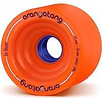 Orangatang in Heat 75 mm Downhill Longboard Skateboard Cruising Wheels (Set of 4)