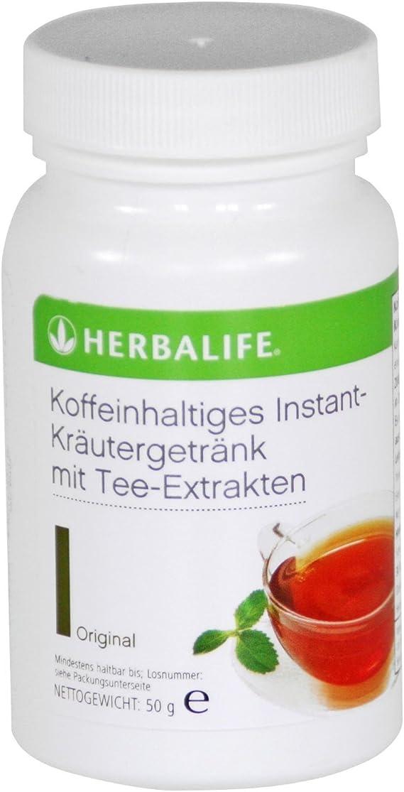 HERBALIFE Bebida instantánea de cafeína con extracto de té - sabor ...