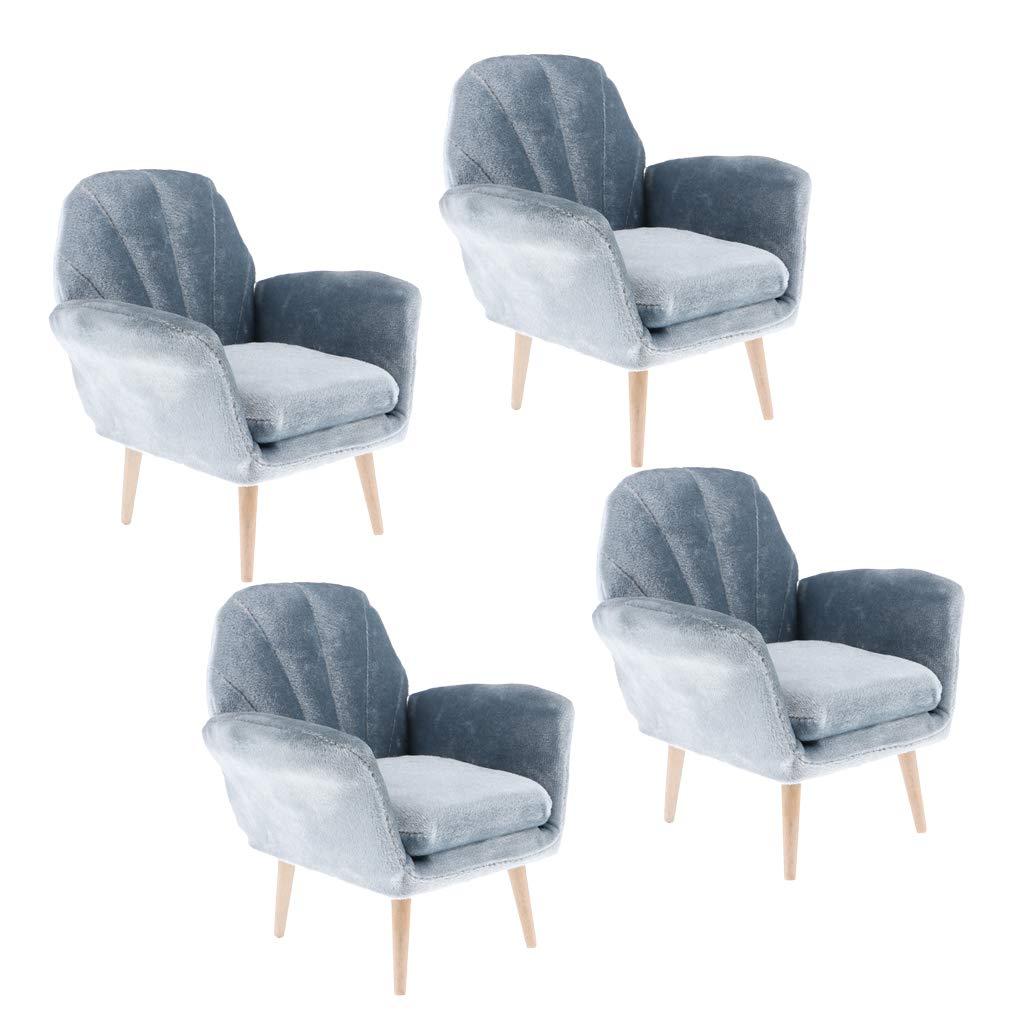 elige tu favorito SM SunniMix 4 Unids Exquisito Sofá De Casa De Muñecas Muñecas Muñecas Hechas A Mano para 1  6 Decoración De Muebles  ventas calientes