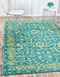 Unique Loom Imperial Collection Modern Traditional Vintage Distressed Blue Area Rug (2′ x 3′) Review