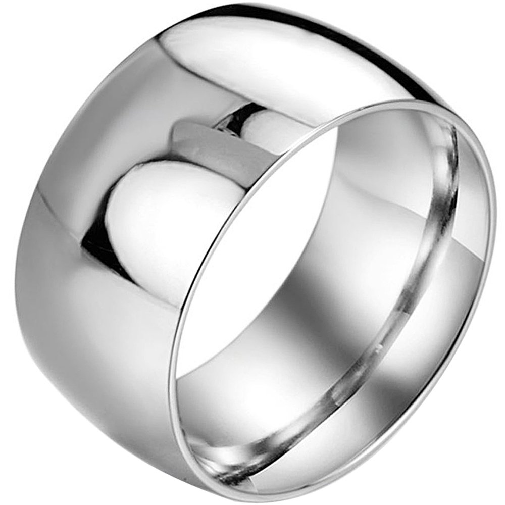 Menso Men Women's Wide 11mm Stainless Steel Ring Band Silver Classic Wedding Polishedamazon: 11 Mm Wedding Bands At Reisefeber.org