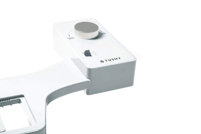 TUSHY Classic Bidet Toilet Attachment – Modern Sleek Design – Fresh Clean  Water Sprayer – Non-Electric Self Cleaning Nozzle (White/Silver Knob)