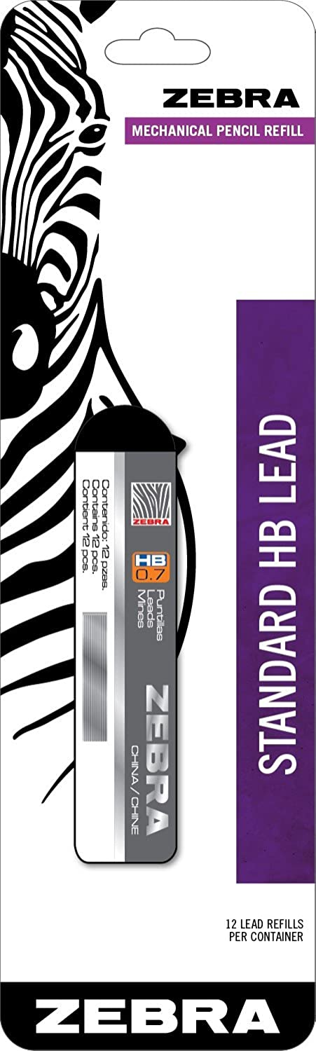 Zebra Standard HB Lead Mechanical Pencil Refill, 0.7mm, 1 Pack Zebra Pen 99911