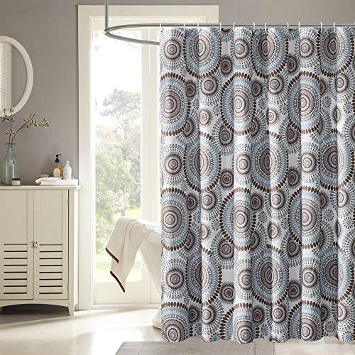 Harper Lane 13pc Fabric Shower Curtain, Starburst, 72
